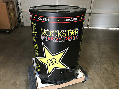 Brand New Rockstar Energy Cooler Fridge Rechargeable Refrigerator Coke Monster