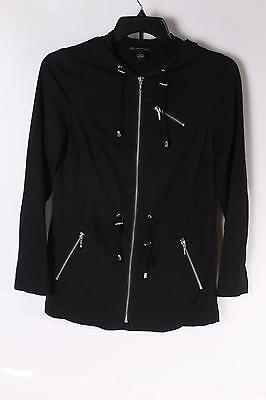 $69 International Concepts Women`s Long Sleeve Hoodie S Small Black NEW