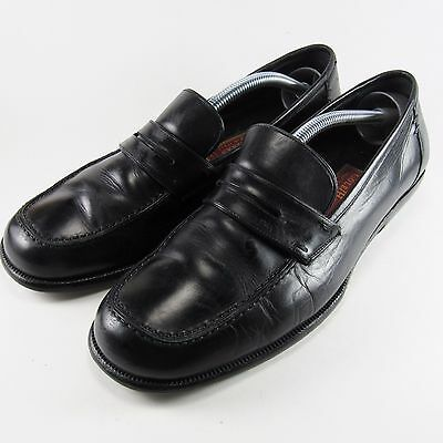 COLE HAAN Men's Leather Loafers Made in Italy BLACK Size 7 1/2 D