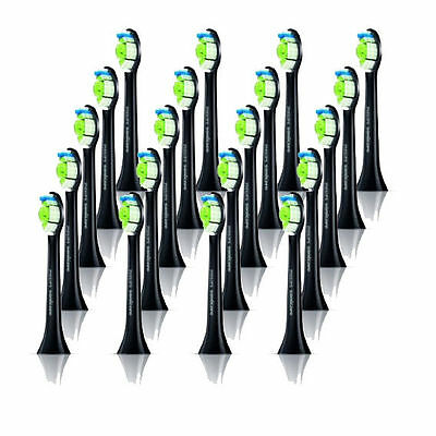 For Philips Sonicare FlexCare Diamond Clean Electric Black Toothbrush Heads 20x