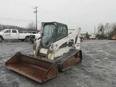 2012 Bobcat T870 Tracked Skid Steer Loader w/ Cab!