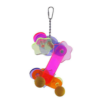 Adventure Bound Acrylic Gear Bird Toy for Small Parrots & Parakeets, etc.