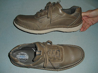 Sketchers mens casual leather loafers shoes sz 13 M brown