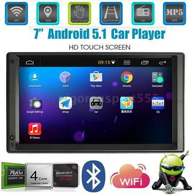 "7"" 2Din Car Stereo Radio Player GPS Navigation Bluetooth WIFI AM/FM Android 5.1"