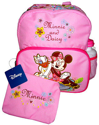 Disney MINNIE & DAISY Toddler Backpack + Free Bottle & Pouch (NEW) U.S. Seller