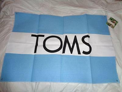 "Nwt Toms Advertising Banner Sign Flag Canvas 29"" X 20"" ~Free Us Ship"