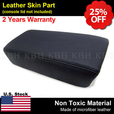 Leather Armrest Center Box Console Lid Cover for Honda Accord 2003-2007 Black