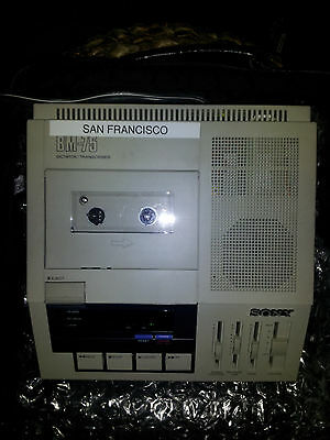 SONY DICTATOR TRANSCRIBER BM-75 W/ FOOT CONTROL UNIT and case
