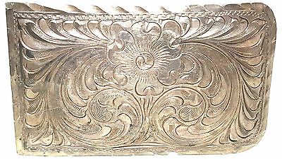 WOMEN'S STERLING SILVER BELT BUCKLE - 925 LADIES CLOTHES ACCESSORIES - 48g SCRAP
