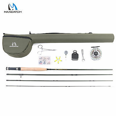 Fly Fishing Rod & Reel Combo Set 9' 5WT 4Sec Fly Rod 5/6WT Fishing Complete Kit