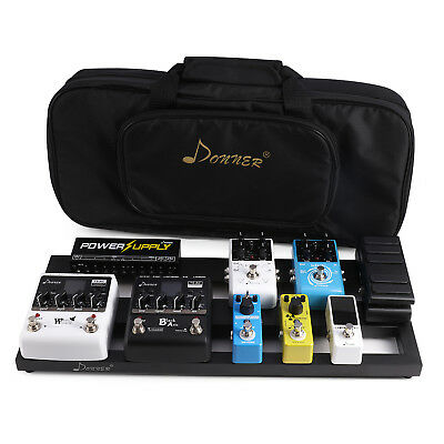 Donner DB-2 Pedal Board For Guitar Effect Pedals With Soft Case+Guita Capo