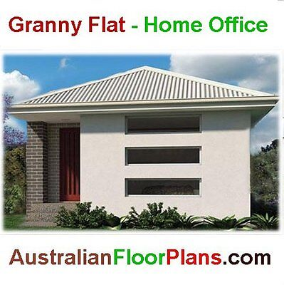 Construction Floor Plans - Home office or granny flat - single level dwelling