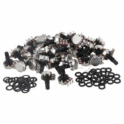 100x B500K OHM Audio POTS Guitar Potentiometer Black for Electric Guitar