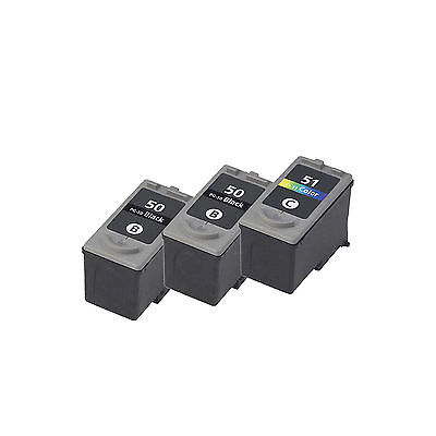 3PK Compatible 2X PG-50 + CL-51 Ink Cartridge For PIXMA MP150 160 170