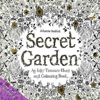 NEW Secret Garden, An Inky Treasure Hunt and Colouring Book