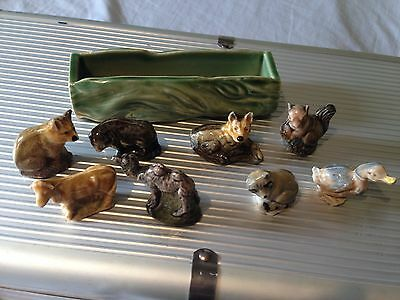 Wade Posy Planter Log & Wade Whimsies Animals Collection FREEPOST