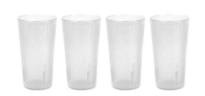 Thunder Group Beverage Tumbler 32 oz Break-Resistant Commercial Plastic Set of 4