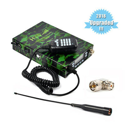 Dual Band 12000 mAh Battery 25W portable Mobile Ham Transceiver With Dual PTT