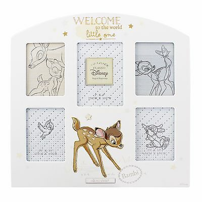Multi Photo Frame  Disney Bambi Welcome To The World New in Gift Box - 1285