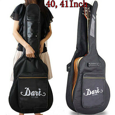 """41"""" Padded Protective Acoustic Guitar Bag Gigbag Carry Case With Shoulder Straps"""