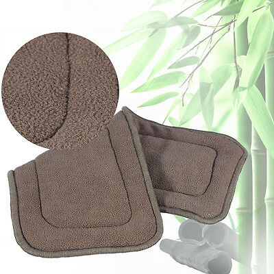 2 Taille Adulte Inserts Doublures Absorbant Bambou Couche Lavable Doux Neuf