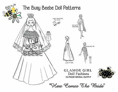 "Glamour Girl ""Here Comes The Bride"" Pattern Barbie (#1)"