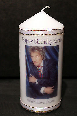 Personalised Rod Stewart Candle Unique Keepsake Gifts Birthday Present  #1
