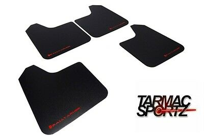 Rally Armor Basic Universal Mud Flaps Set 4 x Black w/ Red Logo MF12-BAS-RD