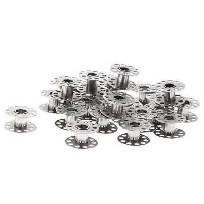 25pcs 21mm Metal Bobbins With Clear Case for Brother Singer Sewing Machine