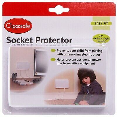 Clippasafe Child's  Safety Double Socket Protector X1 Pack - New