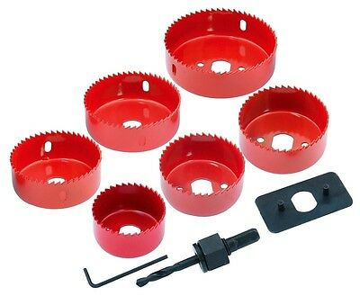 Hole Saw Set Cutter Down Light Holesaw Installation 50 60 65 72 75 86mm & Arbour