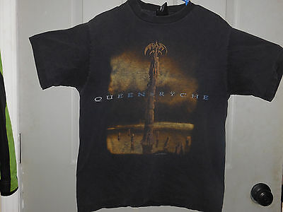 Queensryche Stage Crew Black T-Shirt (1995 Tour) Vintage/out Of Print/rare
