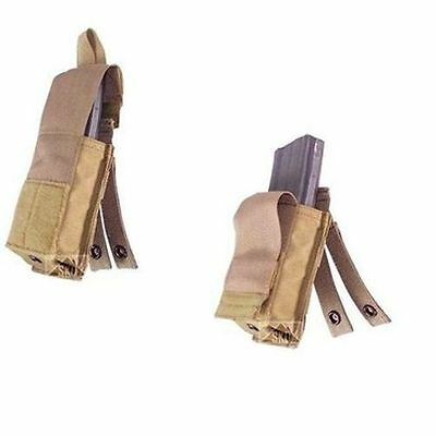 USMC Issue Coyote Brown .223 Speed Reload Magazine pouch - Two (2) New