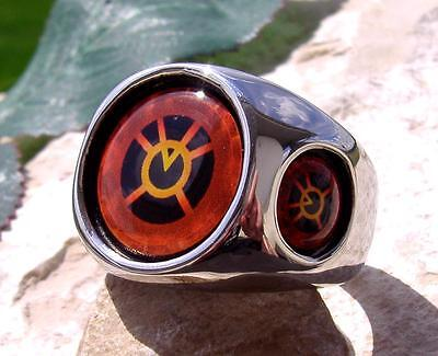 Orange Lantern Corps Ring Steel Red Blue Silver Dc Comics Green Super Hereo N49