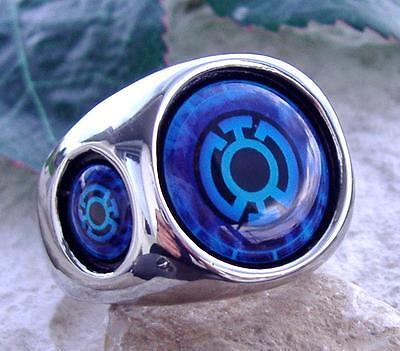 Blue Lantern Ring Steel Red Green Silver Dc Corps Comics Super Hero Green N46