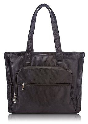 "Overbrooke Womens 13"" Laptop Tote, Black - Lightweight Shoulder Bag"