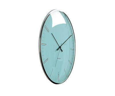 Karlsson Wall Clock Dragonfly in Blue with a Domed Glass Front 40cm Dia
