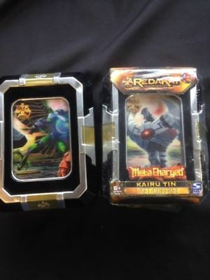 Spinmaster Redakai Kairu Tin x 2 sets - New sealed cards with damaged tins (G32)