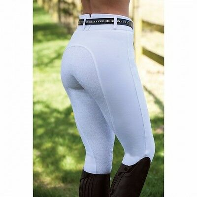 Equetech Empire Paisley Breeches - Full Seat With Silicone Print - Colour White
