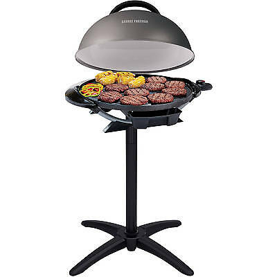 "George Foreman 240"" Indoor/Outdoor Electric Grill Non-Stick Barbecue BBQ NEW"
