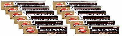 12x AUTOSOL Metal Polish Edel Chromglanz Metall Politur Chrompolitur 75 ml
