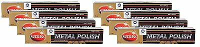 8x AUTOSOL Metal Polish Edel Chromglanz Metall Politur Chrompolitur 75 ml