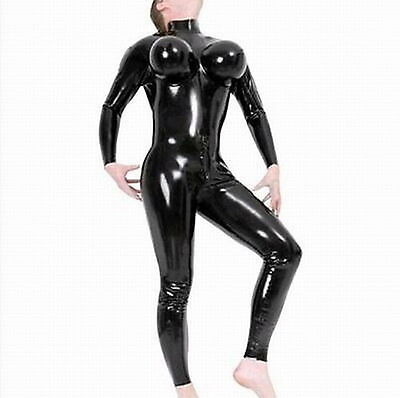 Hot Man Unisex Faux Leather Shiny Catsuit Cosplay Fancy Costume Gay Zentai M L