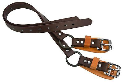 """Weaver Leather Split Ring Lower Climber Straps, Yellow, 26"""""""