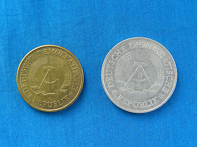 Pair of East Germany Coins *1969 20 Pfennig*     *1975 Mark*