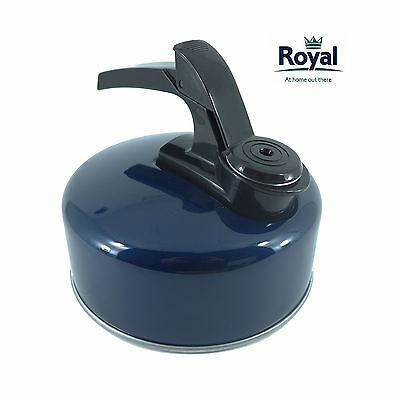Royal 1.2L Litre Whistling Kettle Blue Aluminium Water Camping Fishing
