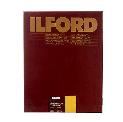 "Ilford 11 x 14"" Multigrade FB Fiber B&W Paper, Semi-Matte Surface, 50 Sheets"