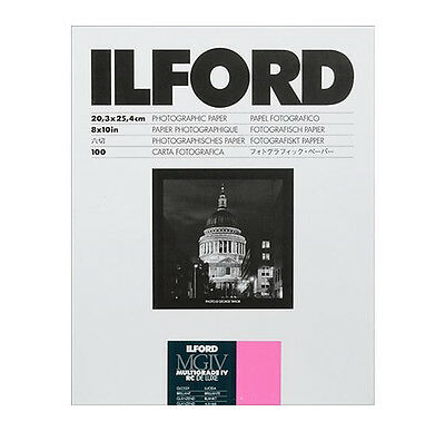 "Ilford 8 x 10"" Multigrade IV RC Deluxe B&W Paper, Glossy Surface, 100 Sheets"