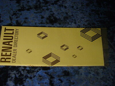 "1978 Renault Dealer Directory Brochure , 22 Pages , 3 1/2"" X 9"""