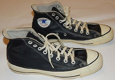Vintage Converse LEATHER -All Star  Made in the USA Size 8 (see listing)